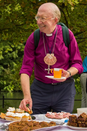 John and the walkers were treated to a trademark St Luke's tea.