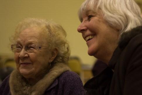 St Luke's favourites: Marian Brookes and Bridget Morris.