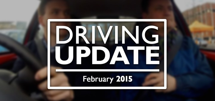 The YouTube thumbnail for a new video, updating viewers on Andrew Burdett's progress with his driving lessons.