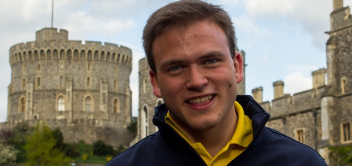 Andrew Burdett at Windsor Castle this evening, having sung Choral Evensong at St George's Chapel.