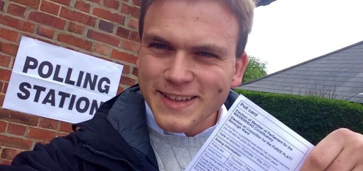 Andrew Burdett's election day selfie.