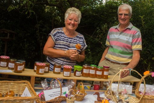 Marmalades and other homemade produce on offer at the St Luke's fair.