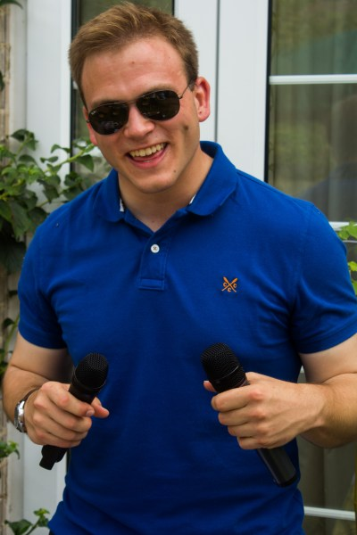 Andrew Burdett enjoyed his day controlling the sound system, playing music and providing a commentary to the day's events.