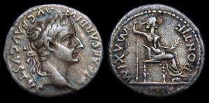 Denarius of the Emperor Tiberius, Tribute Penny. Courtesy of DrusMax (Wikepedia Commons)