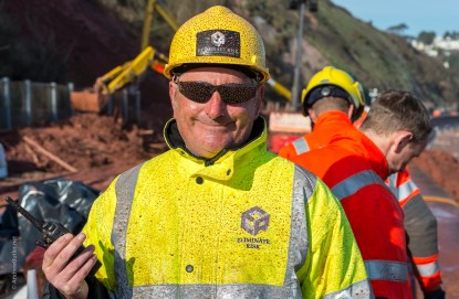 Health and Safety in Rail Engineering Works by Exeter Devon Commercial Industrial Construction Photographer Andrew Butler