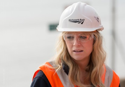 Headshot and portrait photo Women in Rail Engineering Works by Exeter Devon Commercial Industrial Construction Photographer Andrew Butler