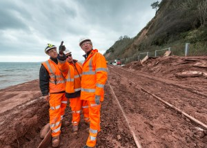 Teignmouth and Dawlish Flood Rail Works by Exeter Devon Commercial Industrial Construction Photographer – Andrew Butler