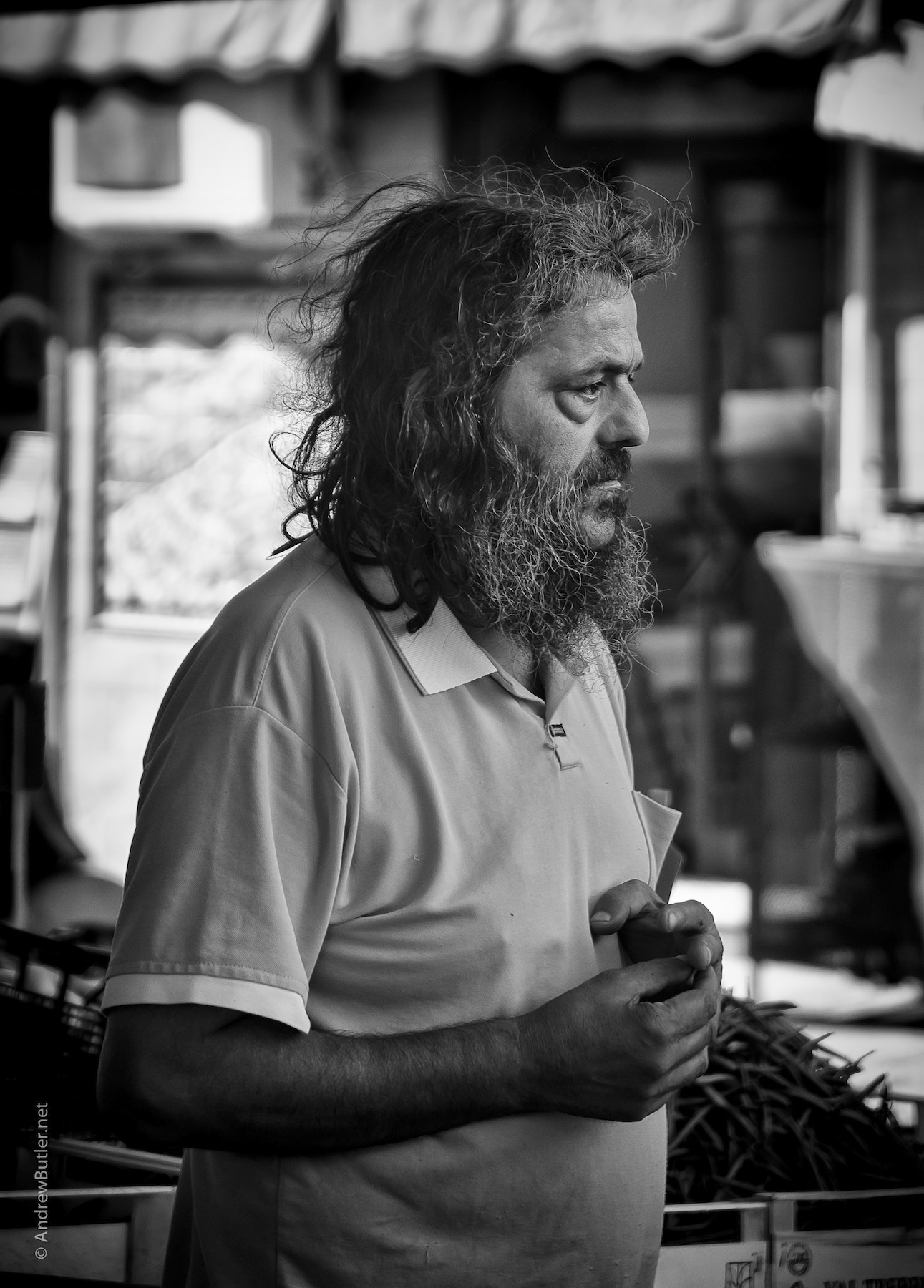 Black and White portrait photograph of Sicilian Man by Andrew Butler (Exeter)