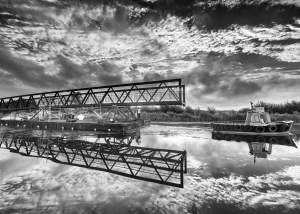 Marine - civil Engineering Photo of Clyst Cycle Bridge Near Topsham by Exeter Devon Commercial Industrial Construction Photographer - Andrew Butler