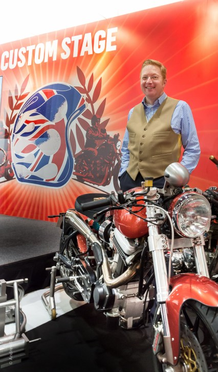 Ellis Pitt of Mac Motorcycles by motorbike photographer Andrew Butler