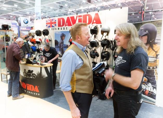 David Fiddaman of Davida and Ellis Pitt by Andrew Butler by motorbike photographer Andrew Butler