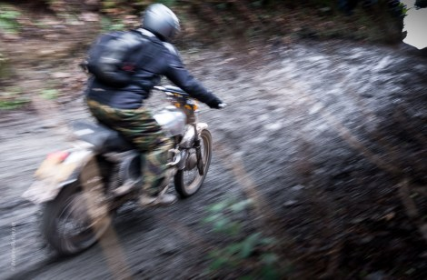 Exeter Trial motorbike pan photograph by Andrew Butler