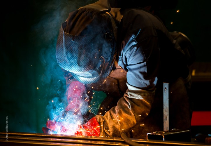 Welder Manufacturing and industrial photography by commercial photographer Andrew Butler
