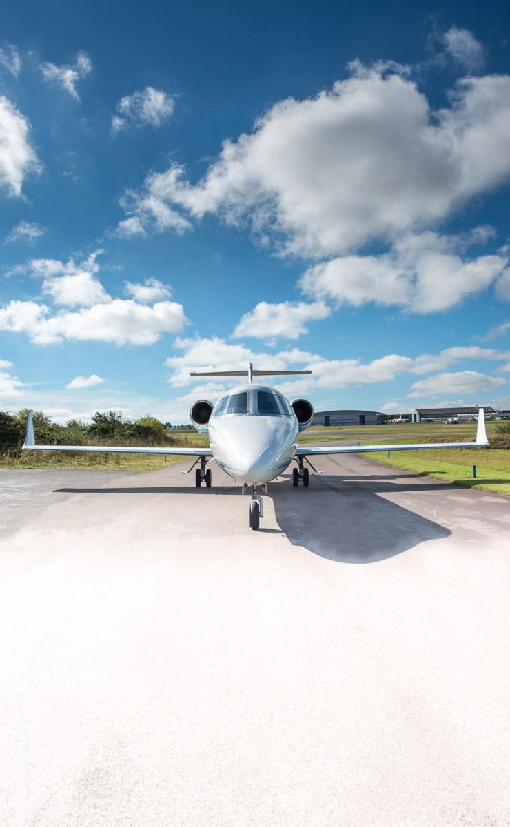 Exeter Learjet Photographer