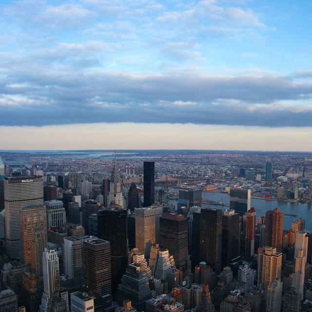 There's nothing like the view from the Empire State Building! #NYC #nycskyline