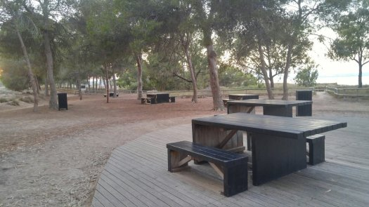 La Pinada - a picnic area near the lake