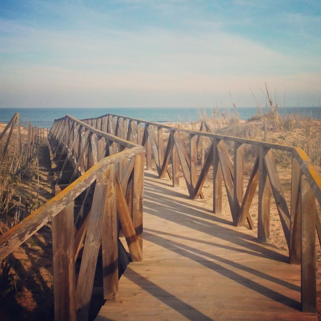 View to the Mediterranean Sea from La Mata Beach