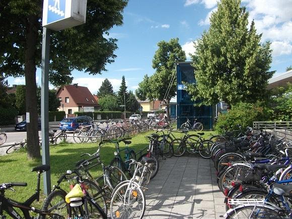 Bikes near Freimann subway station