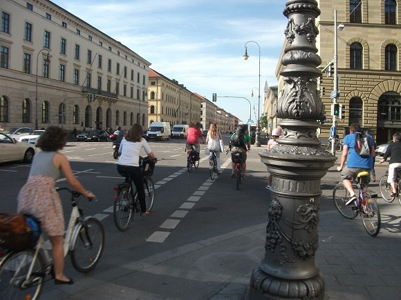 Cyclists in Munich