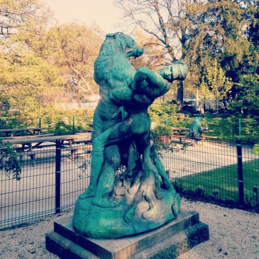 The mom bear will kill the guy in a moment for killing her baby bear. Sorry man, you deserve it :) Le Dénicheur d'oursons statue (Emmanuel Frémiet) at Jardin des Plantes #jardindesplantes #Paris #France #parisfrance #parisjetaime #parisphoto #wanderlust #parisisalwaysagoodidea #igparis #french #bear #hunting #bears #parislove #beautiful #globetrotting #instaparis #globetrotter #globetrotters #sculpture #parisian #topparisphoto #art #arts #park #parisphotographe #parks #struggle #moms #mom