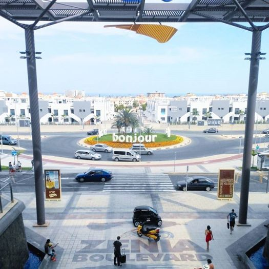 View from top floor, La Zenia Boulevard shopping center