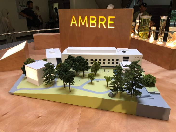 I am not sure why the French word for 'amber' sits ominously above this model of the museum.