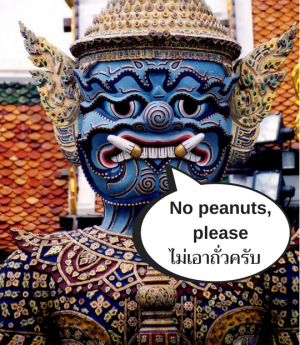 how to survive thailand with a peanut allergy