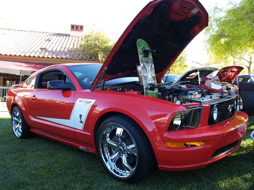 Red Mustang at Lake Las Vegas Car Show 2011
