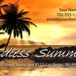 Endless Summer Business Card Design