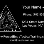 Forced Entry Tactical Training Business Card Design