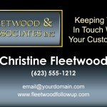 Christine Fleetwood Business Card Design