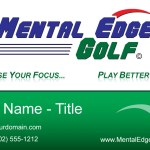 Mental Edge Golf Business Card Design