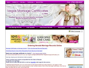 Vegas Marriage Certificates