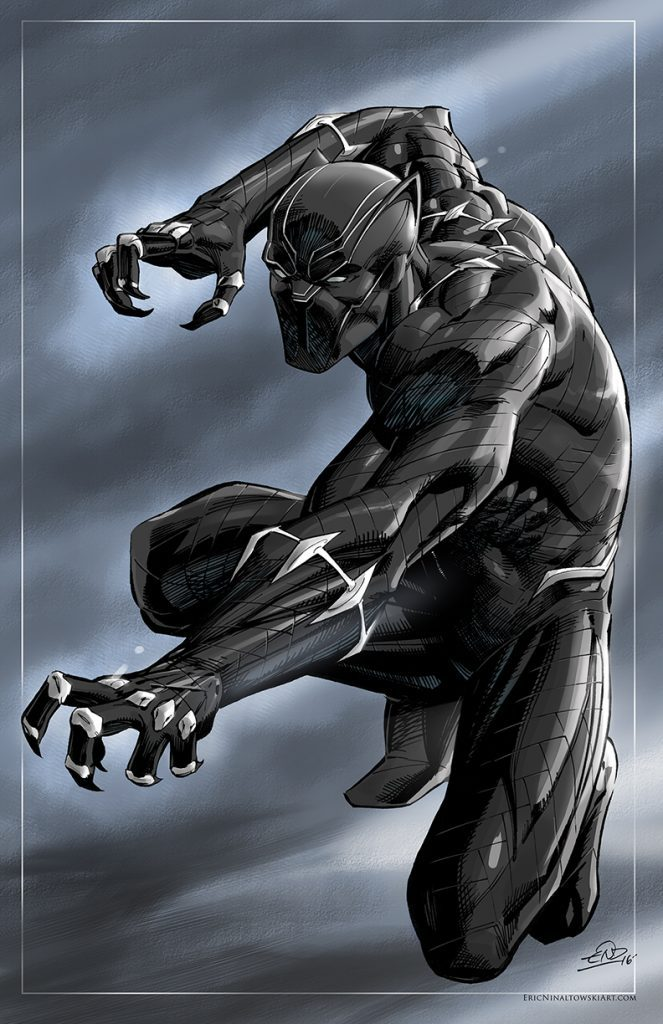 Eric Ninaltowski Comic Art - Black Panther