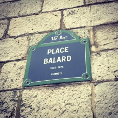 Where the walk finishes (or starts) at Place Balard