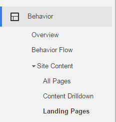 How to find landing pages in Google analytics