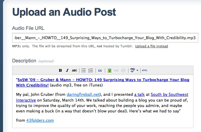 Listen Later: How to create an Instapaper-style audio blog to save