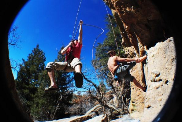 Castlewood Canyon Climbing