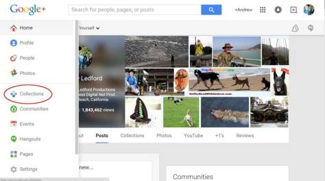 Google Plus Collections Sidebar