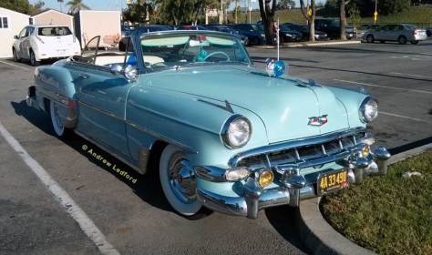 Chevy Bel Air Convertible In Frisco's Parking Lot