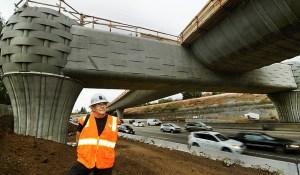 The Gold Line Bridge Construction