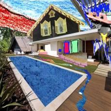 neighborhood #4, 2015Mixed Technique, Digital Collage