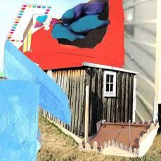 neighborhood #5, 2015Mixed Technique, Digital Collage