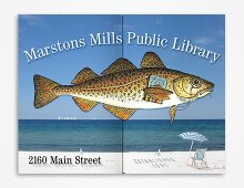 Marstons Mills Public Library signage design