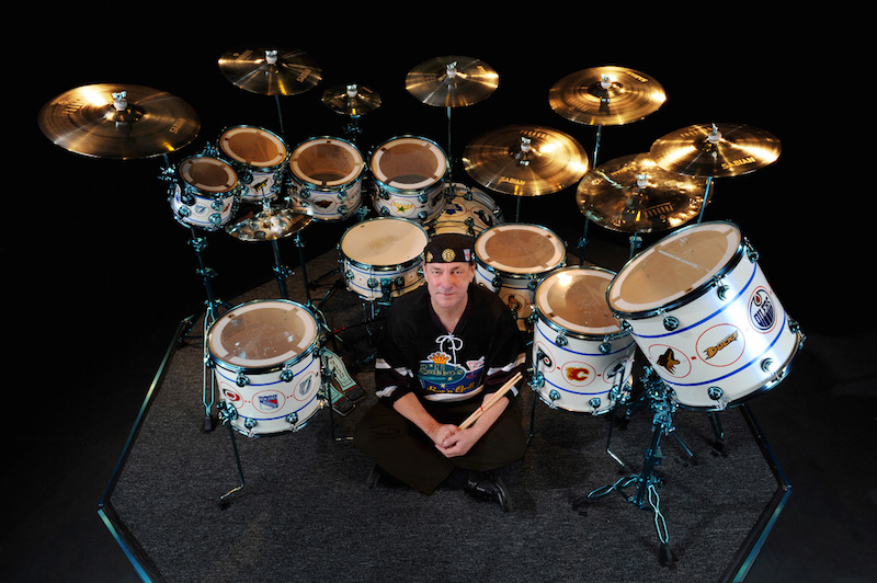 Neil Peart Hockey Song drums Photos