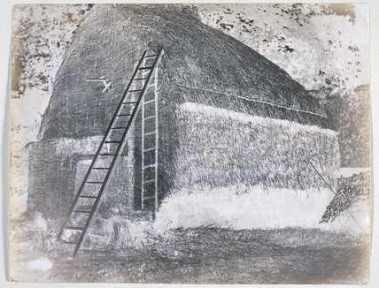 Calotype Negative of a Haystack - William Henry Fox Talbot
