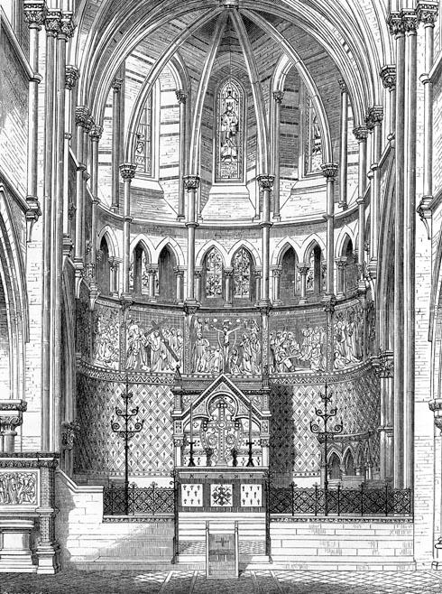 St Peter's church Vauxhall, south London, 1864; the chancel