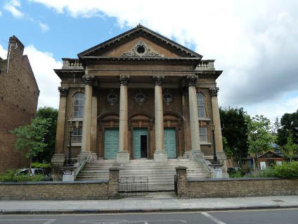 St Mellitus Catholic church - originally New Court Congregational Church (1871), Islington London (UK) by C. G. Seatle (1816-81)
