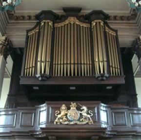 All Saints, Poplar (1823) the organ case c.2000
