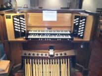St Mary of Eton, Hackney Wick, London; the organ console 2016